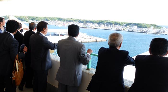 相模湾を一望できる三崎水産物地方卸売市場