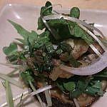 サラダ紫ナスとアジの香味サラダ
